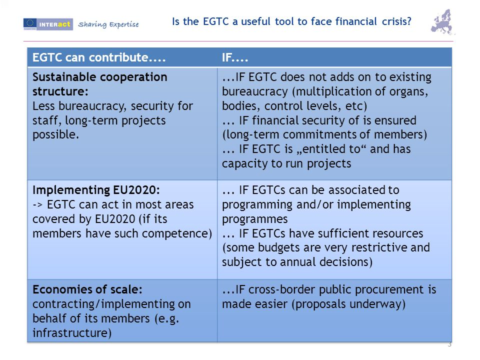 Is the EGTC a useful tool to face financial crisis 3
