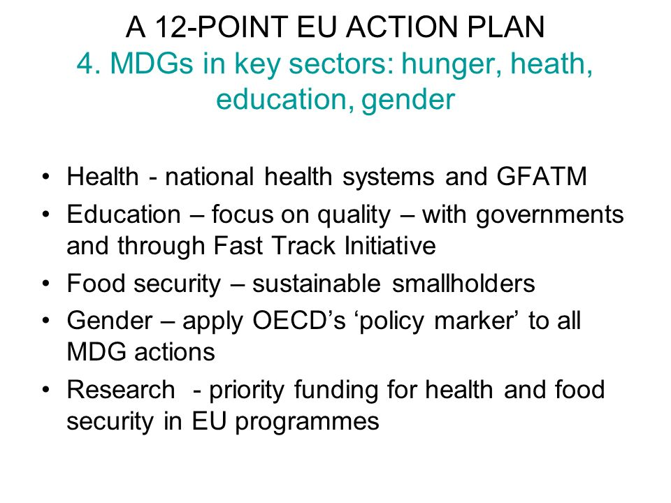 A 12-POINT EU ACTION PLAN 4.