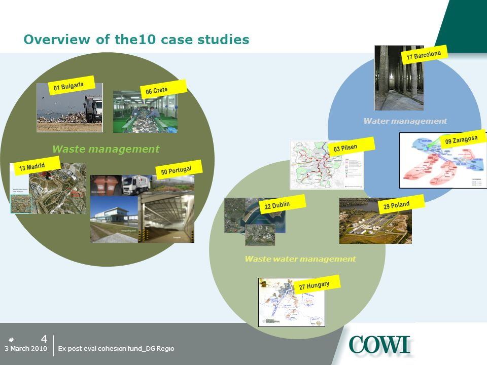 # Overview of the10 case studies 4 3 March 2010Ex post eval cohesion fund_DG Regio Waste management Water management Waste water management 01 Bulgari