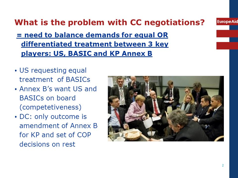 EuropeAid 3 What is the problem with CC negotiations.