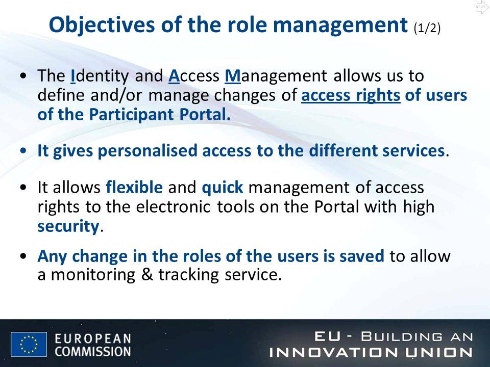 Unique identifier of persons: ECAS account (European Commission Authentication System).