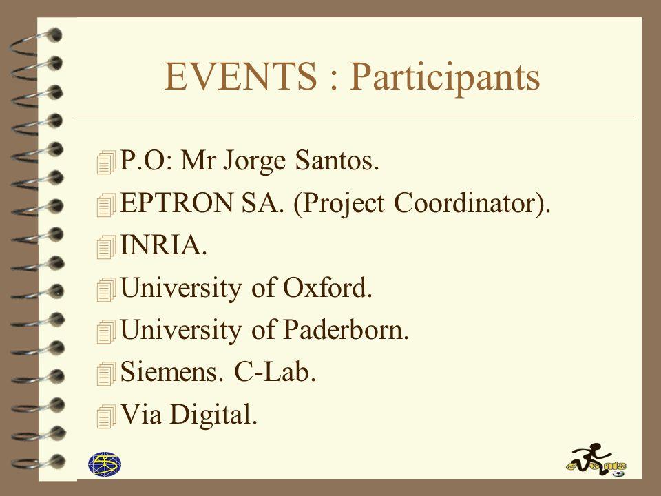 EVENTS : Participants 4 P.O: Mr Jorge Santos.4 EPTRON SA.