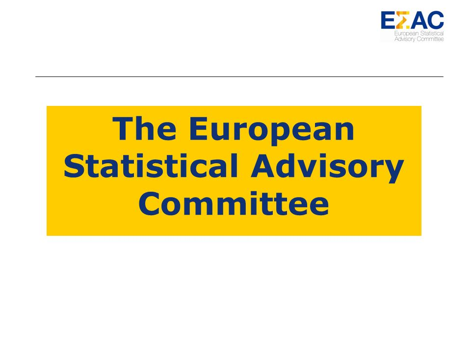 The European Statistical Advisory Committee
