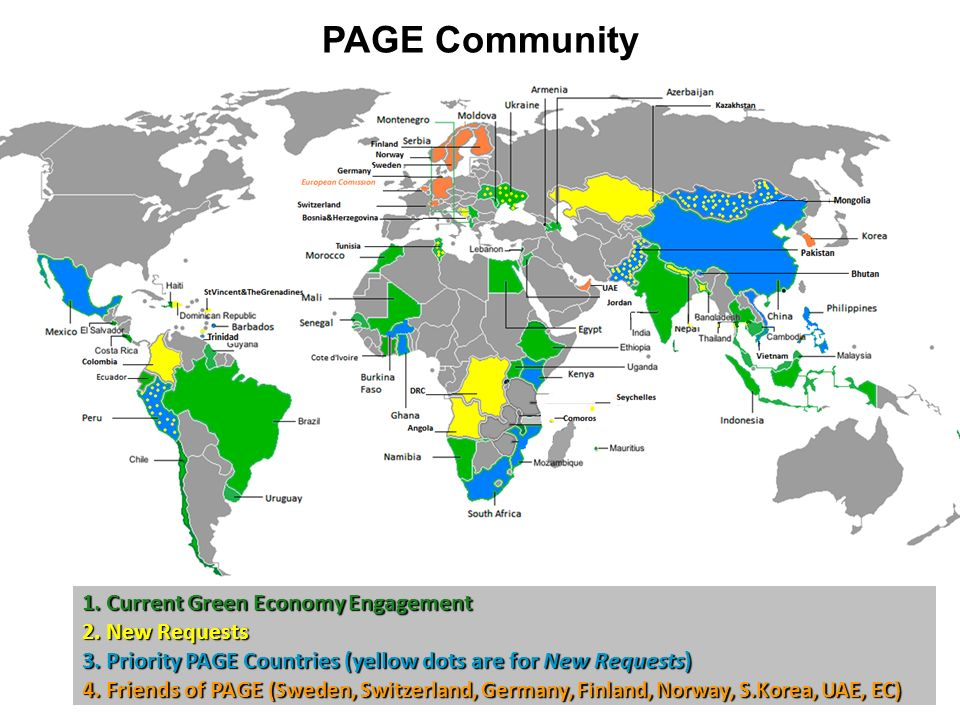 PAGE Community 1.Current Green Economy Engagement 2.