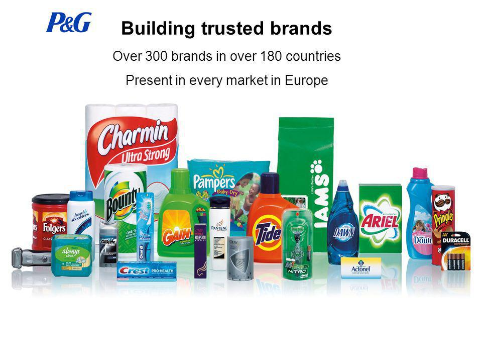 Building trusted brands Over 300 brands in over 180 countries Present in every market in Europe