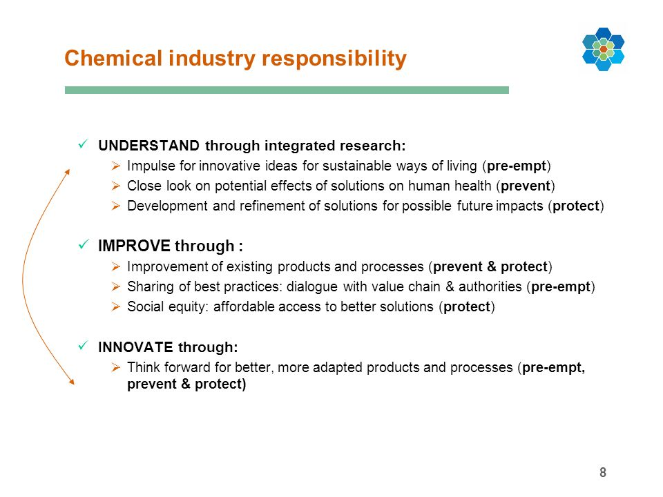 19 Innovation, solutions and competitiveness Ch Chemical Industry Advances towards Sustainability in Europe