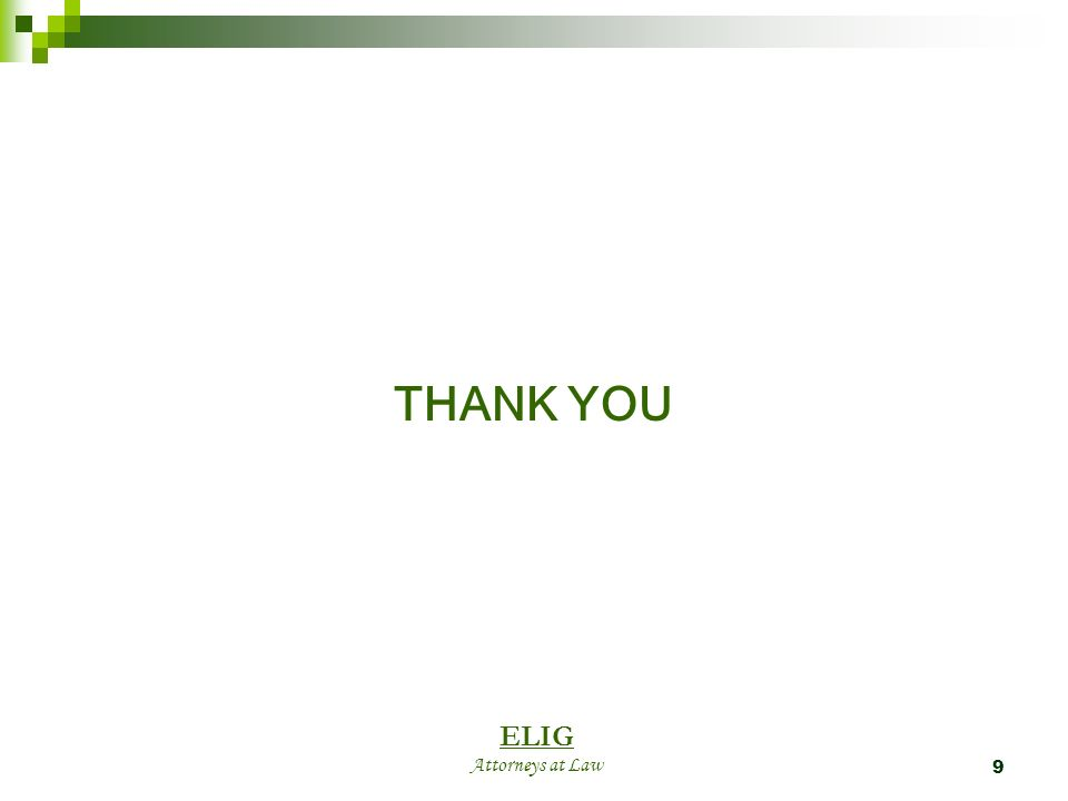 9 THANK YOU ELIG Attorneys at Law