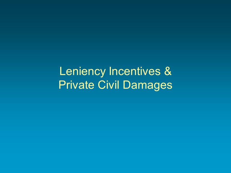 Leniency Incentives & Private Civil Damages