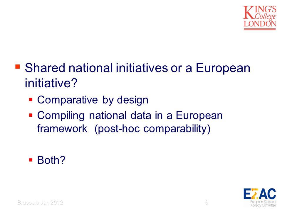Shared national initiatives or a European initiative.