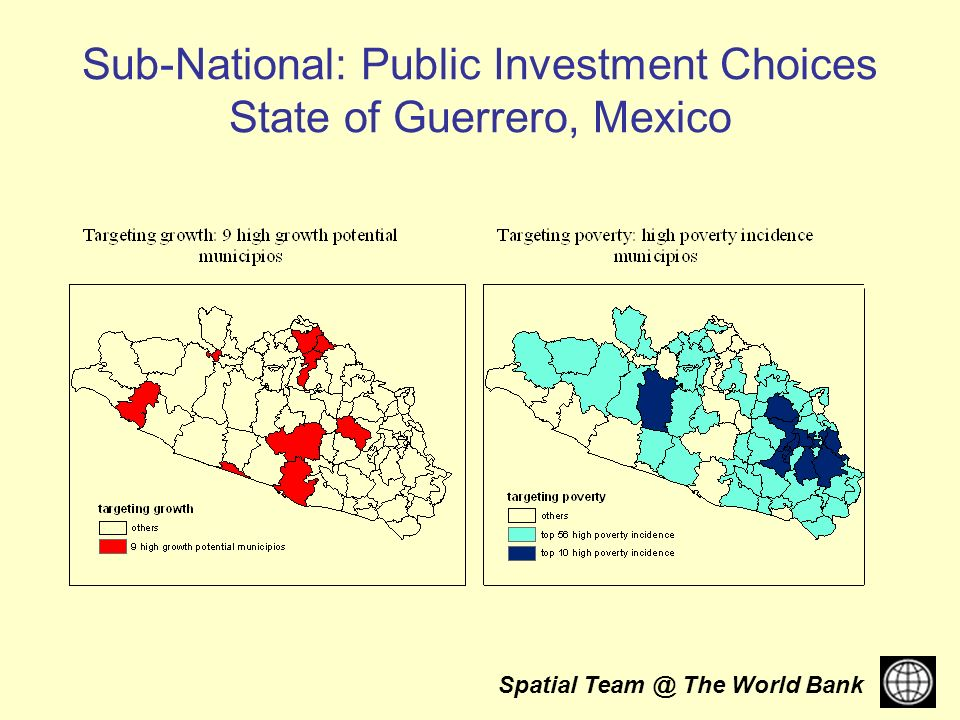 Spatial The World Bank Sub-National: Public Investment Choices State of Guerrero, Mexico
