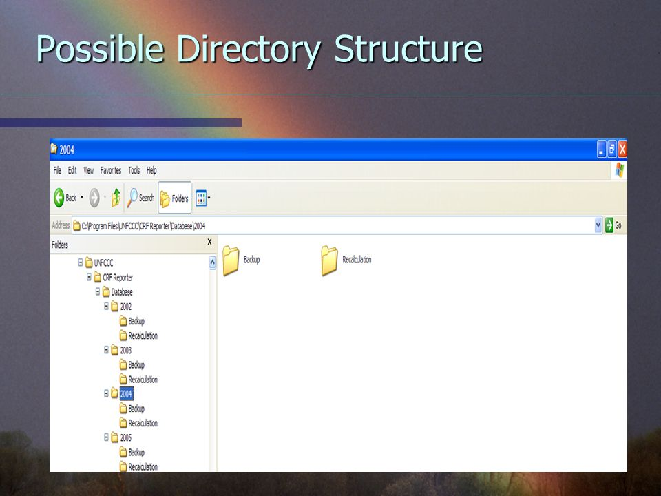 Possible Directory Structure