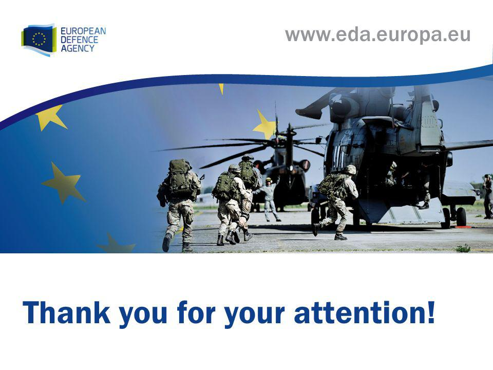 www.eda.europa.eu Thank you for your attention!