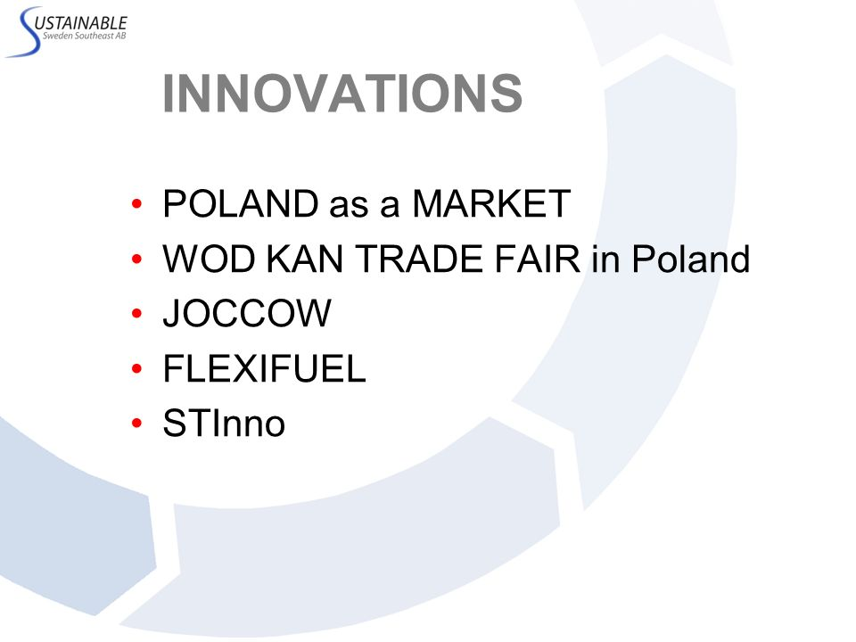 INNOVATIONS POLAND as a MARKET WOD KAN TRADE FAIR in Poland JOCCOW FLEXIFUEL STInno