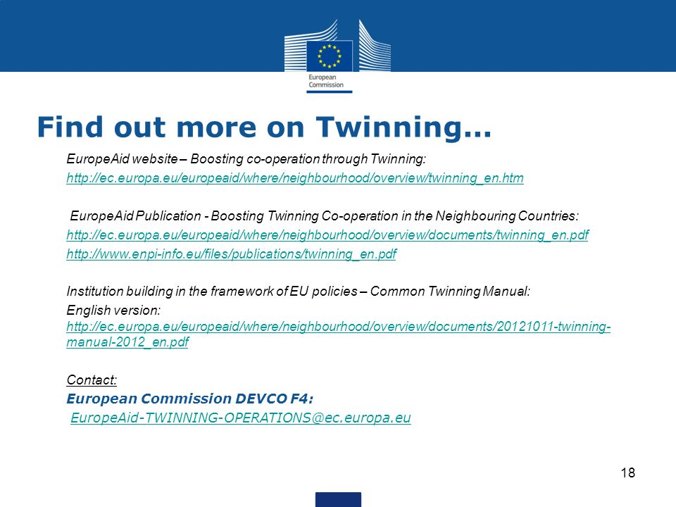Find out more on Twinning...