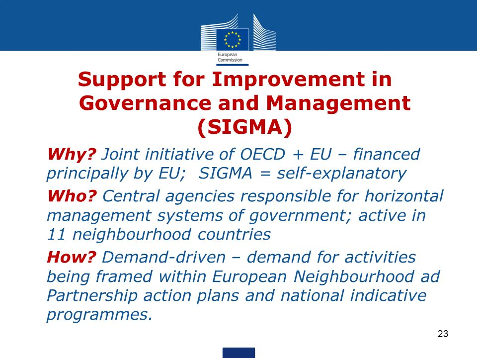 Support for Improvement in Governance and Management (SIGMA) Why.