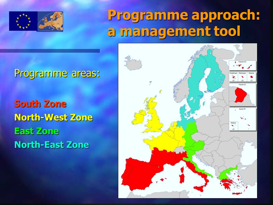 14 Programme areas: South Zone North-West Zone East Zone North-East Zone Programme approach: a management tool