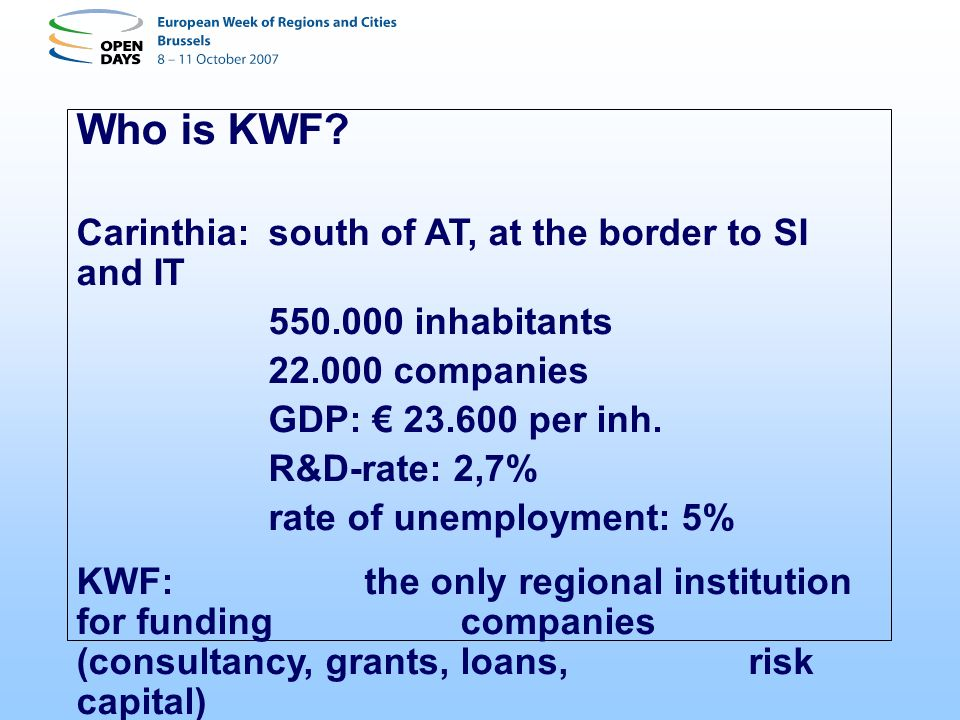 Who is KWF.