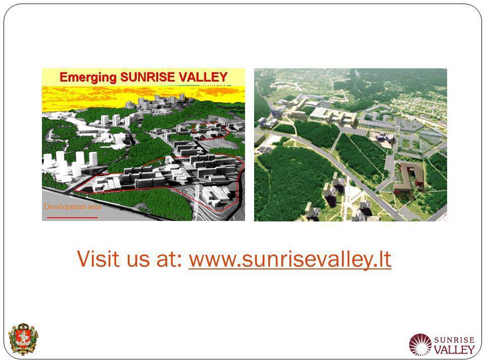 Visit us at: www.sunrisevalley.lt