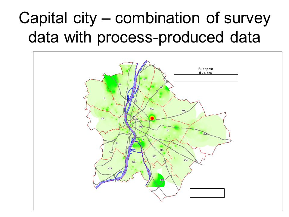 Capital city – combination of survey data with process-produced data