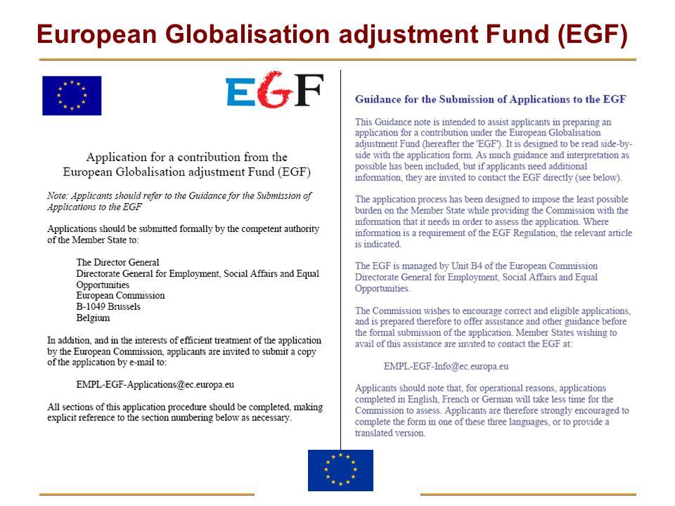 European Globalisation adjustment Fund (EGF)