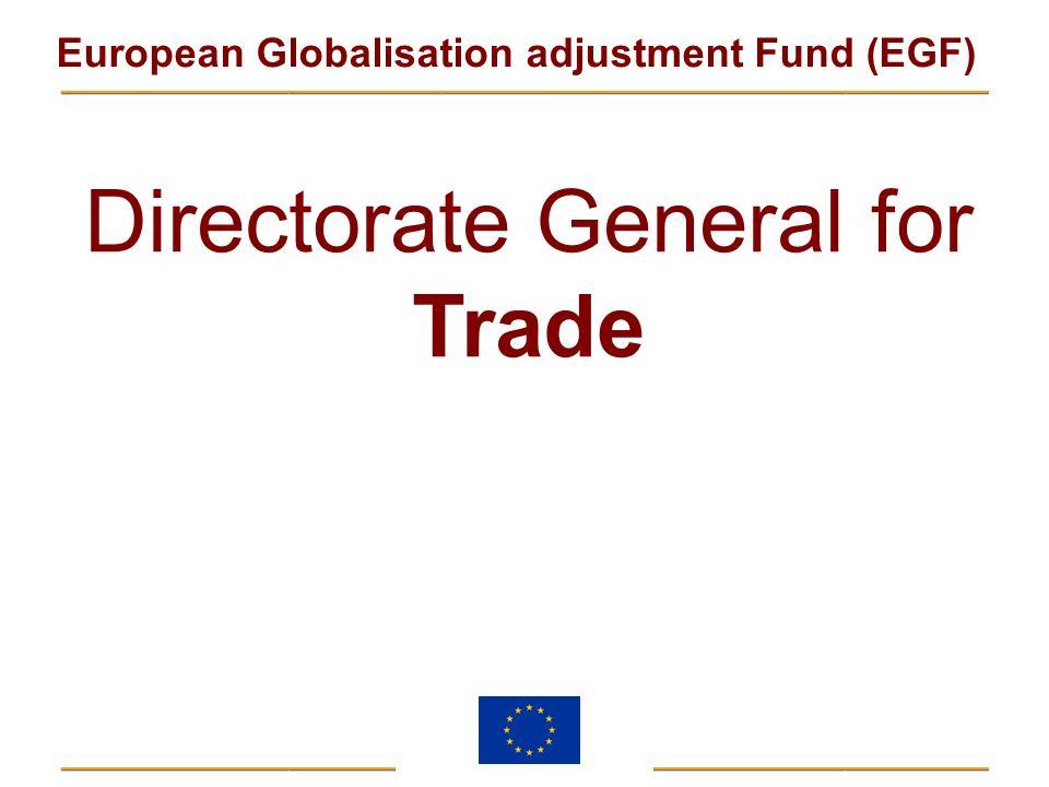 European Globalisation adjustment Fund (EGF) Directorate General for Trade