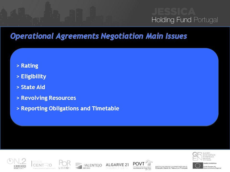 Iniciativa JESSICA – Financiamento de Projectos Sustentáveis de Reabilitação Urbana Nuno Vitorino 16 Nov 2010 > Rating > Eligibility > State Aid > Rev