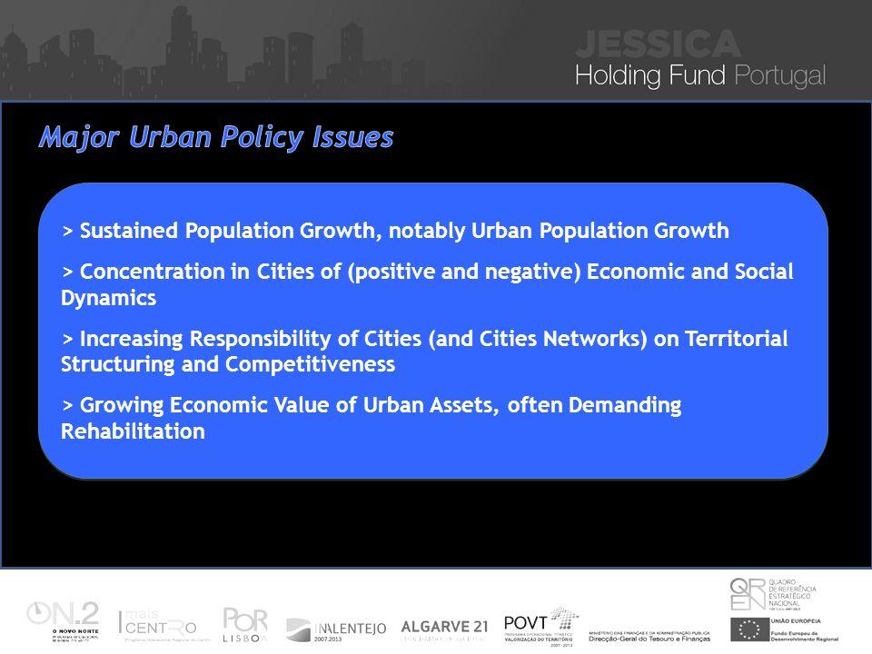 Iniciativa JESSICA – Financiamento de Projectos Sustentáveis de Reabilitação Urbana Nuno Vitorino 16 Nov 2010 > Sustained Population Growth, notably U