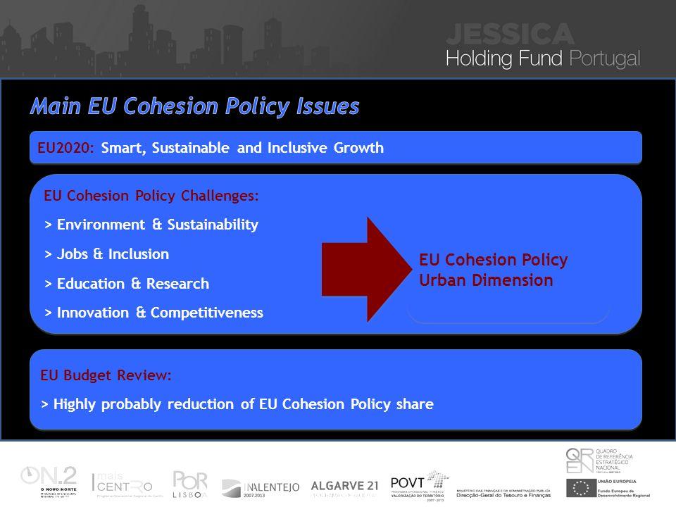 Iniciativa JESSICA – Financiamento de Projectos Sustentáveis de Reabilitação Urbana Nuno Vitorino 16 Nov 2010 EU2020: Smart, Sustainable and Inclusive