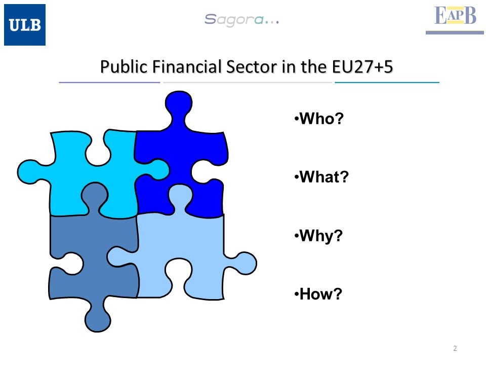 Public Financial Sector in the EU27+5 2 Who What Why How