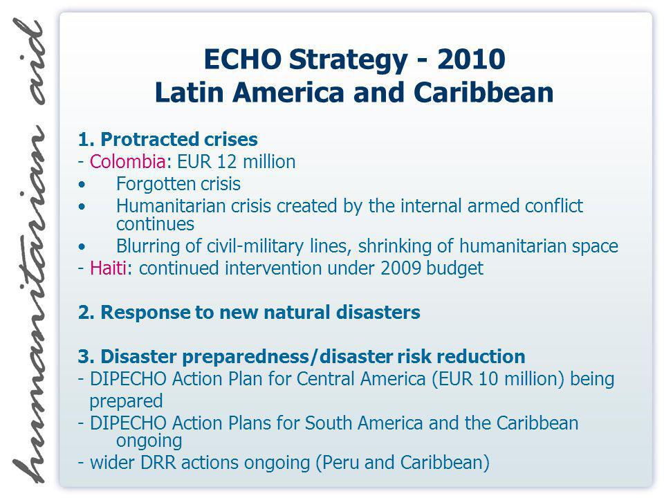 ECHO Strategy - 2010 Latin America and Caribbean 1.