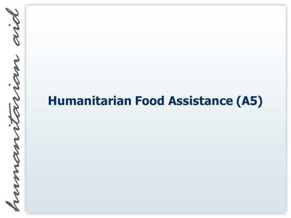 Humanitarian Food Assistance (A5)