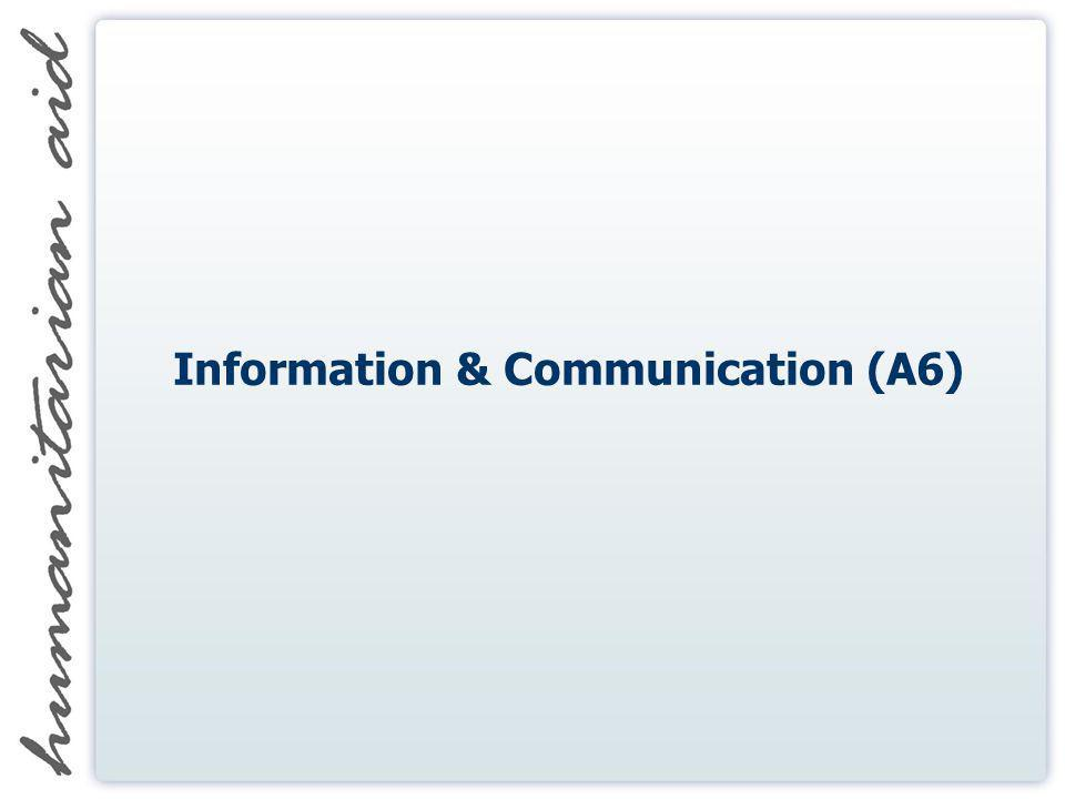 Information & Communication (A6)
