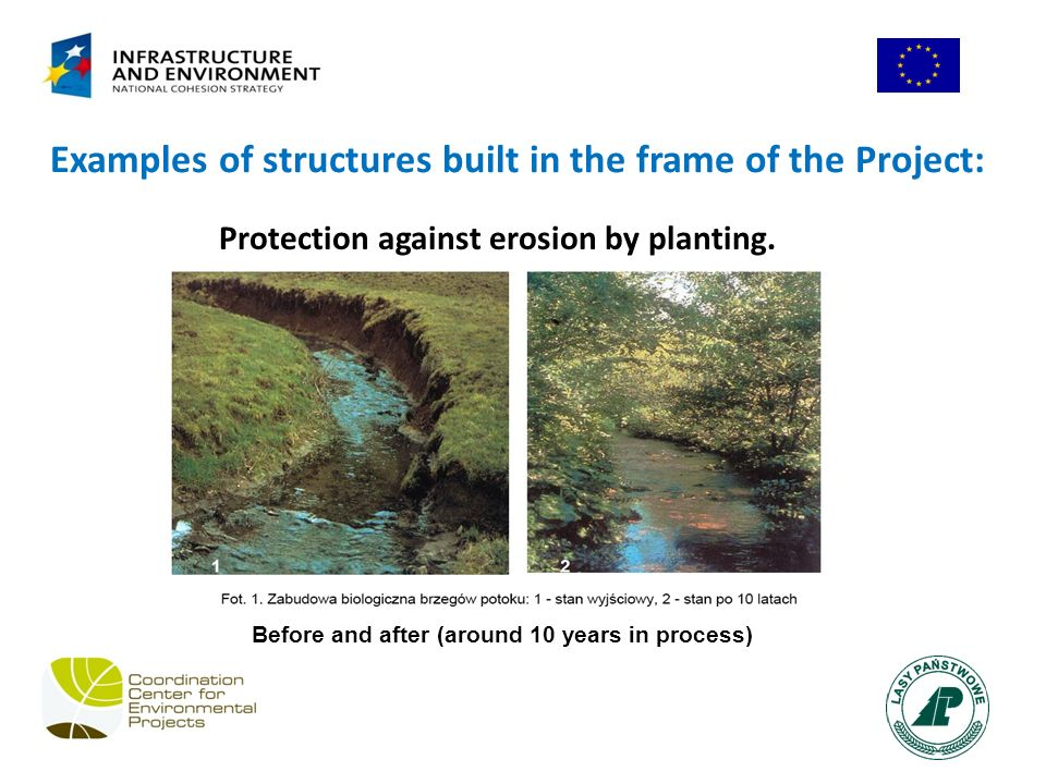 Protection against erosion by planting.