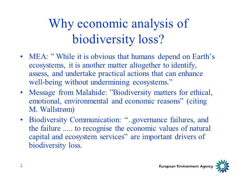 3 Why economic analysis of biodiversity loss at EEA.