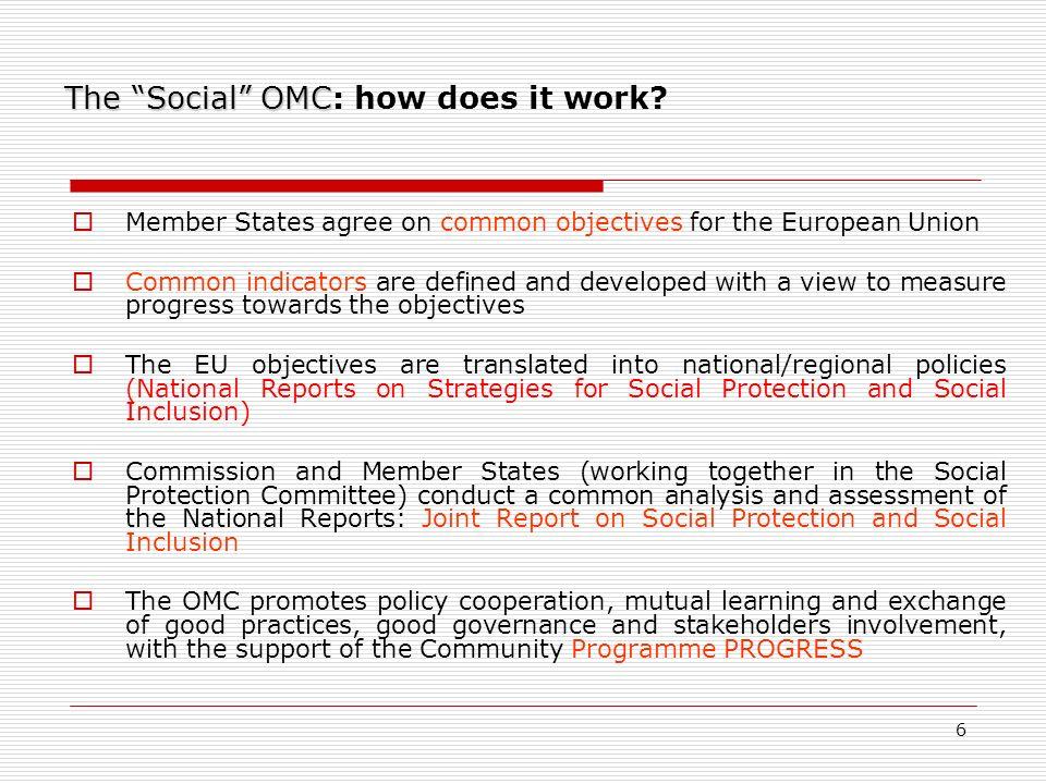 6 The Social OMC The Social OMC: how does it work.