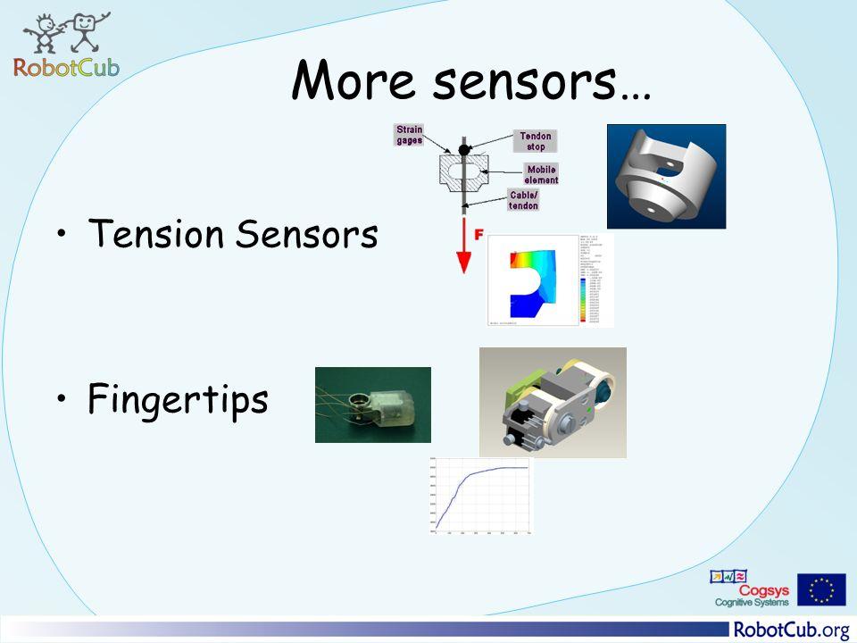 More sensors… Tension Sensors Fingertips