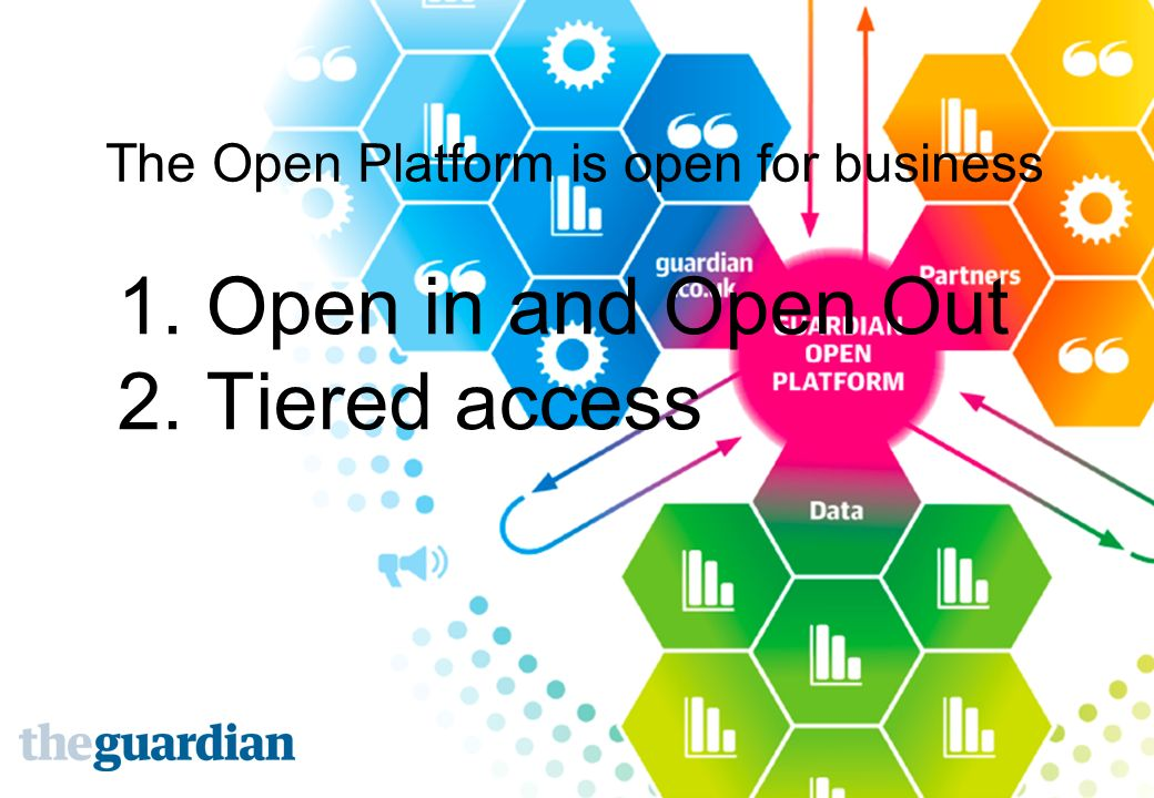 1. Open in and Open Out 2. Tiered access The Open Platform is open for business