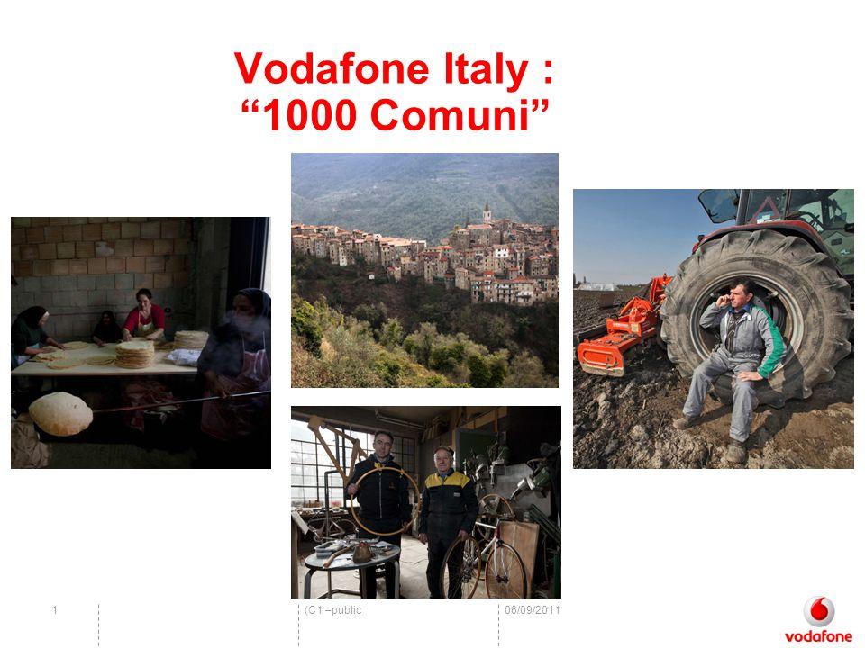 (C1 –public06/09/20111 Vodafone Italy : 1000 Comuni