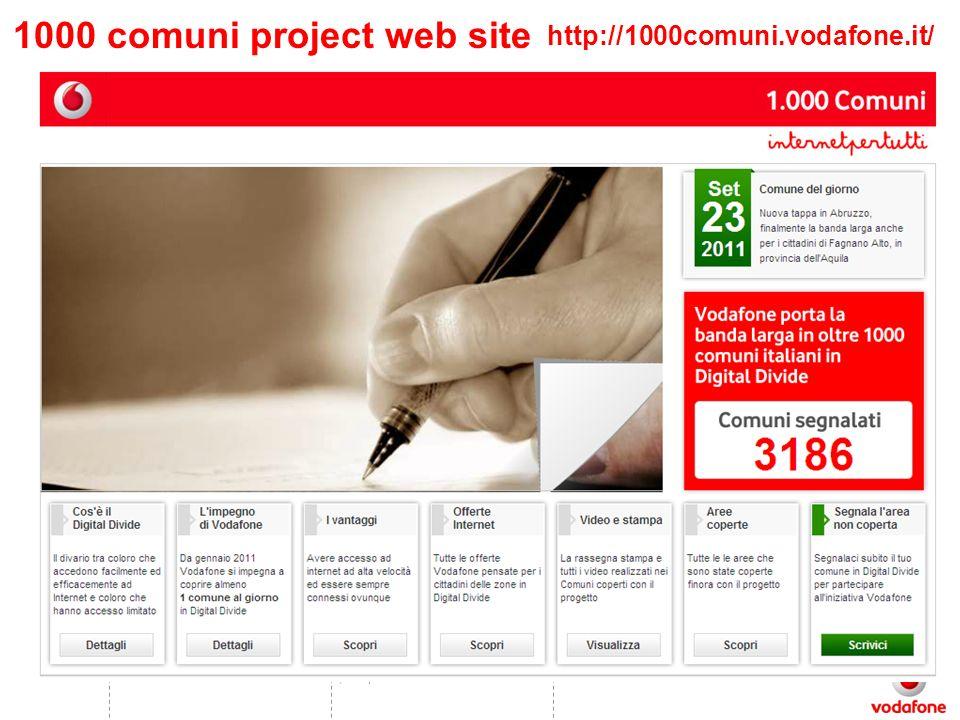 (C1 –public06/09/2011 http://1000comuni.vodafone.it/ 1000 comuni project web site