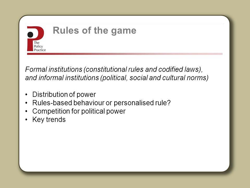 Rules-based behaviour.