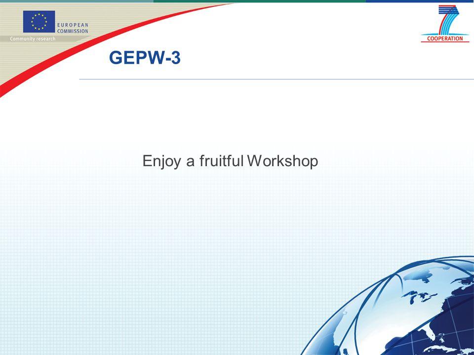 GEPW-3 Enjoy a fruitful Workshop