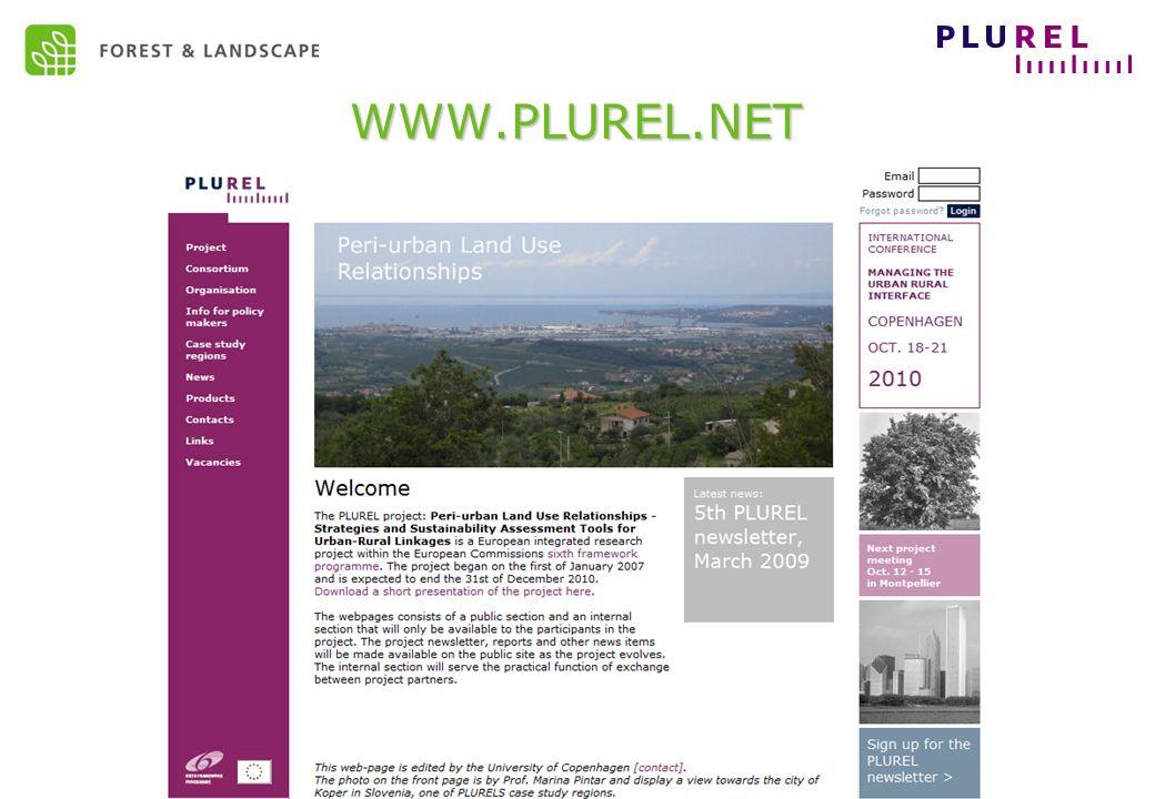 EC Sustainable development – May 2009 WWW.PLUREL.NET