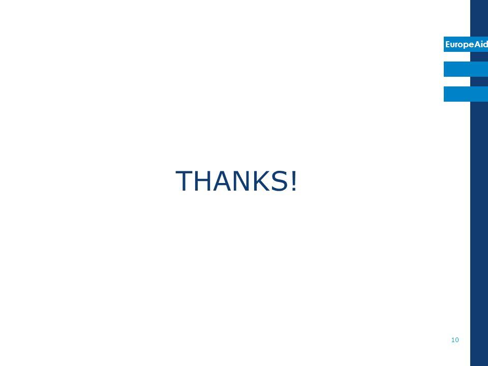 EuropeAid THANKS! 10