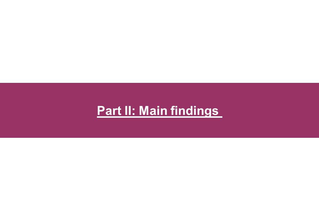Part II: Main findings