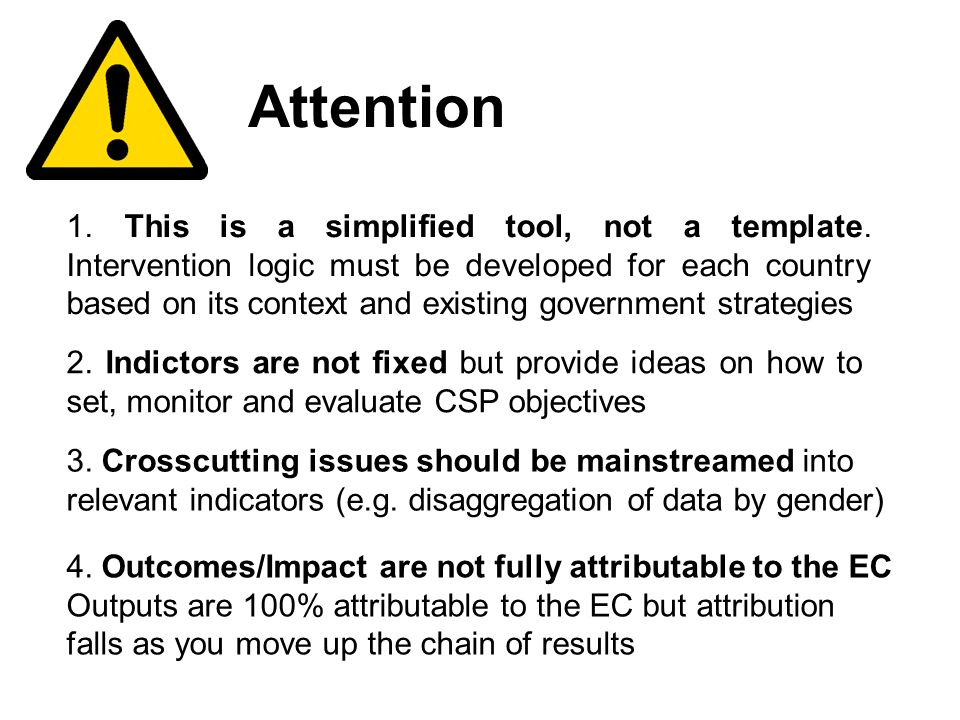 17 Attention 1. This is a simplified tool, not a template.