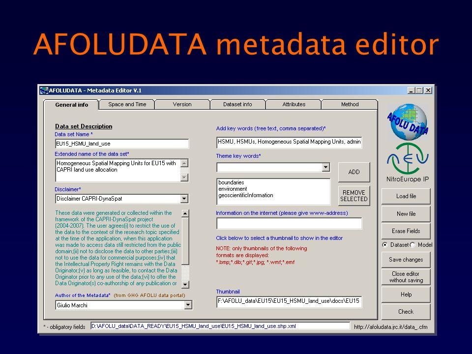 AFOLUDATA metadata editor