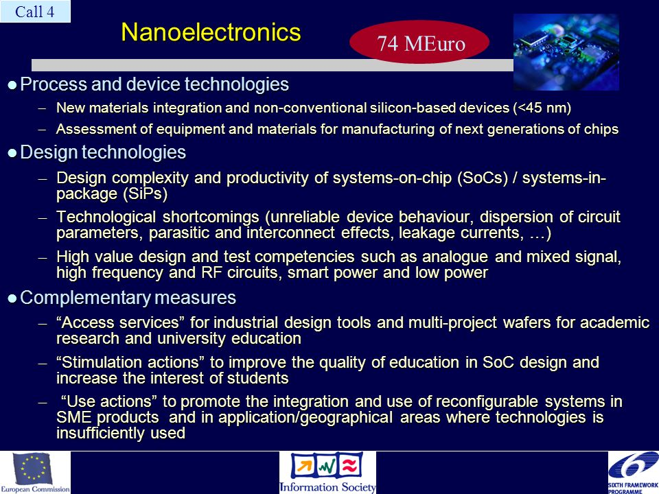 Nanoelectronics Process and device technologies Process and device technologies – New materials integration and non-conventional silicon-based devices