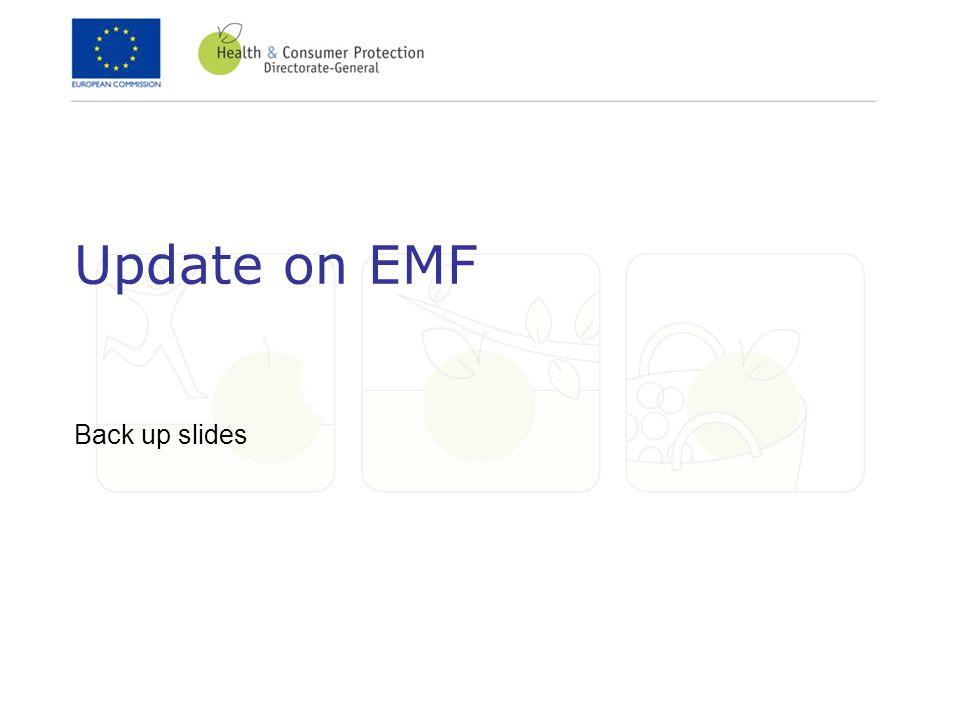 Update on EMF Back up slides