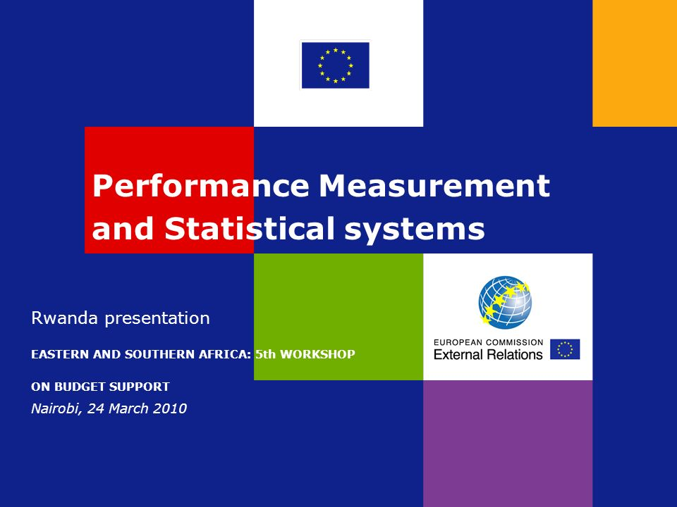 Performance Measurement and Statistical systems Rwanda presentation EASTERN AND SOUTHERN AFRICA: 5th WORKSHOP ON BUDGET SUPPORT Nairobi, 24 March 2010