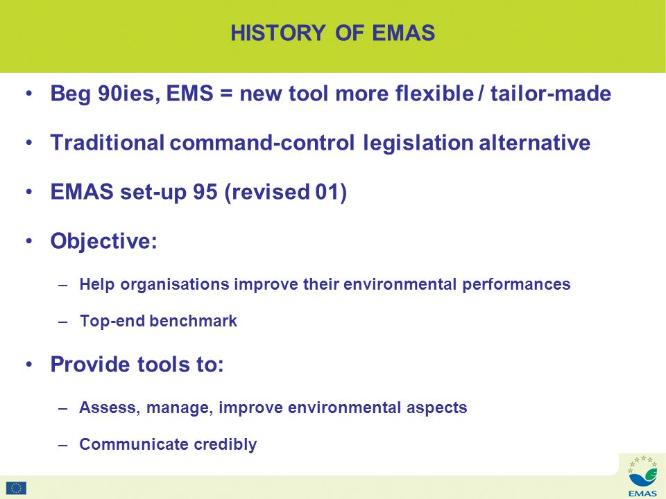 Based on PDCA cycles – Plan Do Check Action HOW DOES EMAS WORK.